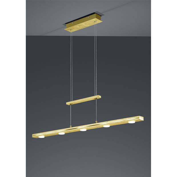 LED Hanglamp - Trion Lacy - 21W - Aanpasbare Kleur - 7-lichts - Dimbaar - Rechthoek - Mat Goud - Aluminium