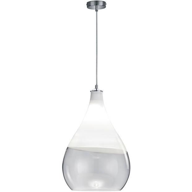LED Hanglamp - Hangverlichting - Trion Kinton - E27 Fitting - Rond - Mat Chroom - Aluminium
