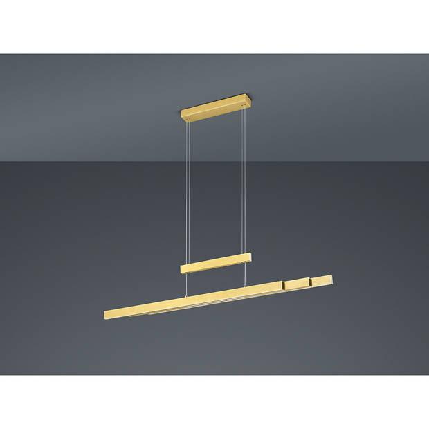 LED Hanglamp - Trion Trojan - 54W - Aanpasbare Kleur - Rechthoek - Mat Goud - Aluminium