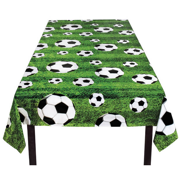 Boland tafelkleed voetbal 120 x 180 cm groen