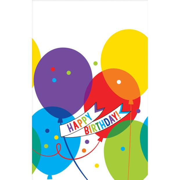 Amscan tafelkleed Brilliant Balloons 137 x 259 cm