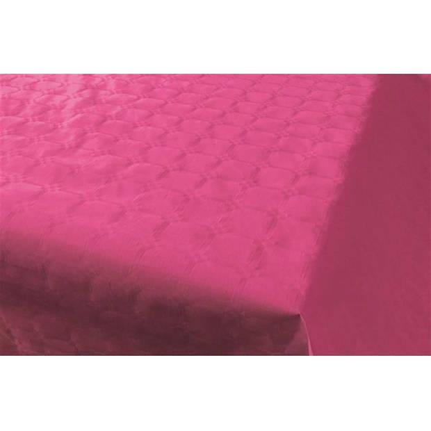 Haza Original tafelkleed damastpapier op rol 1,18 x 8 m donkerroze
