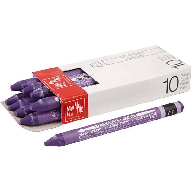 Caran d'Ache waskrijt Neocolor II violet 10 stuks