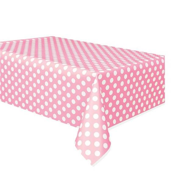 Haza Original tafelkleed gestippeld roze/wit 137 x 274 cm