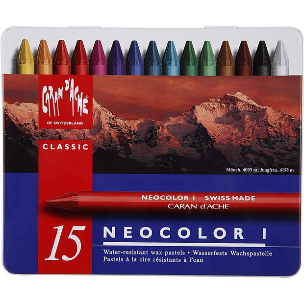 Caran d'Ache Neocolor I caran d'Ache Neocolor 1 waskrijten 15 stuks
