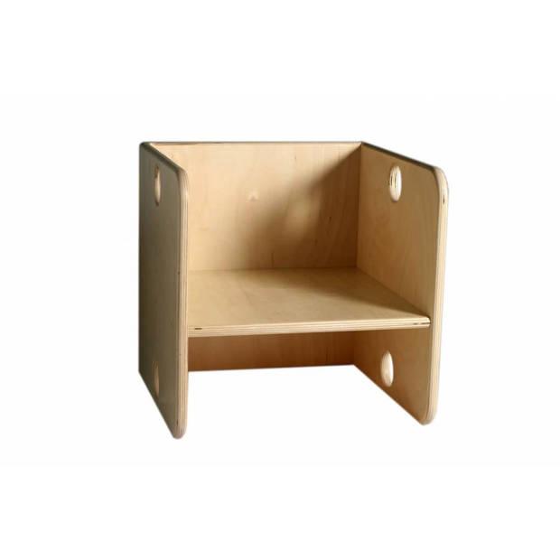 Houten Kubusstoel Kleuter, van Dijk Toys (437)