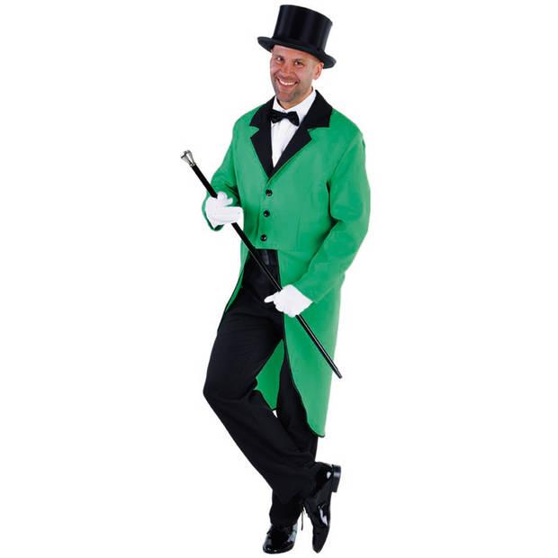 Magic Design Slipjas cabaret heren polyester groen