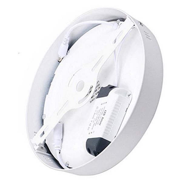 LED Downlight - Opbouw Rond 12W - Helder/Koud Wit 6000K - Mat Wit Aluminium - Ø170mm