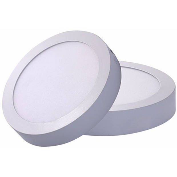 LED Downlight - Opbouw Rond 18W - Warm Wit 3000K - Mat Wit Aluminium - Ø225mm
