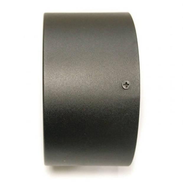 LED Downlight - Opbouw Rond Hoog 10W - Natuurlijk Wit 4200K - Mat Zwart Aluminium - Ø140mm