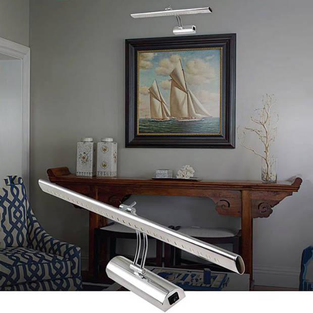 LED Spiegelverlichting - Schilderijverlichting - Ovaal 4W - Glans Chroom Aluminium - Verstelbaar