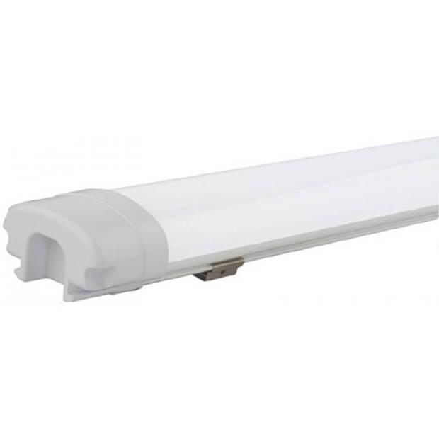 LED Balk - Niha - 36W - Waterdicht IP65 - Helder/Koud Wit 6400K - Kunststof - 120cm