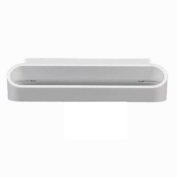 LED Wandlamp - Wandverlichting - 6W - Natuurlijk Wit 4000K - Mat Wit Aluminium - Ovaal