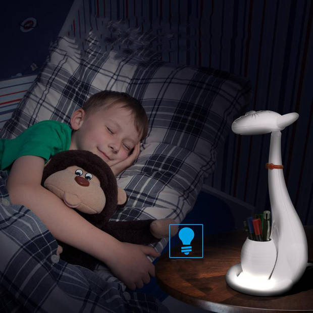LED Kinder Nachtlamp - Tafellamp - Kat - Aanpasbare Kleur - Wit - Touch - Dimbaar