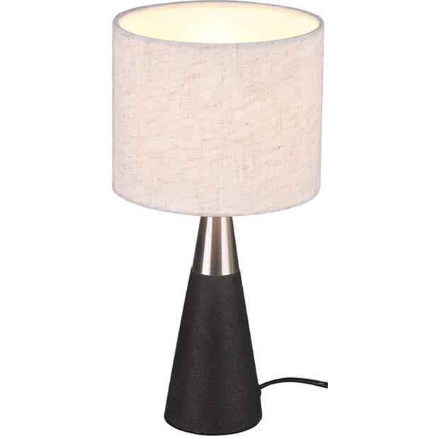 LED Tafellamp - Tafelverlichting - Trion Menpa - E14 Fitting - Rond - Beton - Beton