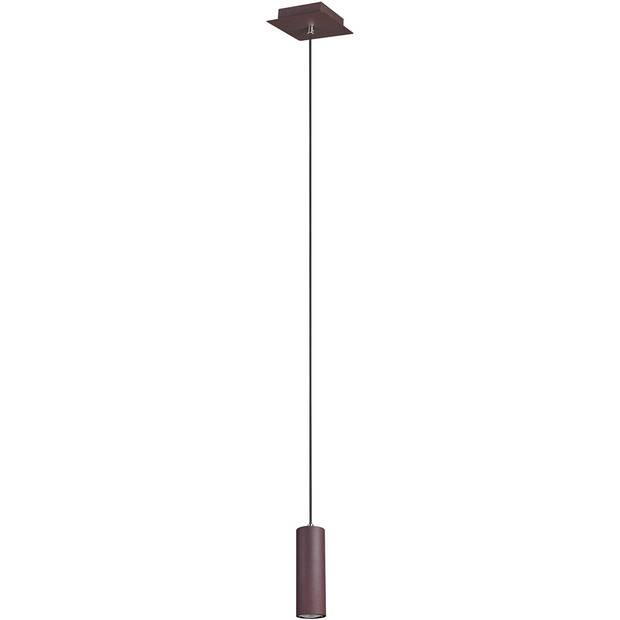 LED Hanglamp - Trion Mary - GU10 Fitting - 1-lichts - Vierkant - Roestkleur - Aluminium