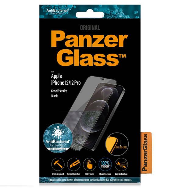 Case Friendly Screenprotector voor iPhone 12, iPhone 12 Pro - zwart