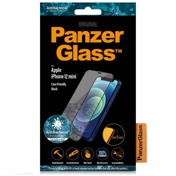PanzerGlass Case Friendly Screenprotector voor iPhone 12 Mini - Zwart