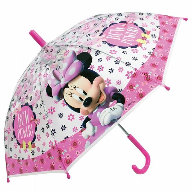 Minnie Mouse meisjes paraplu roze 38 cm