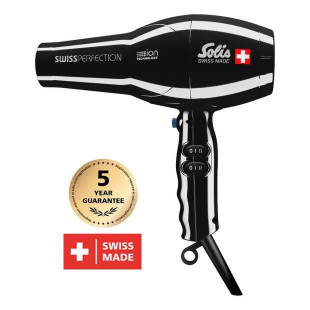 Solis Swiss Perfection 440 Föhn - Ionische Haardroger - Zwart