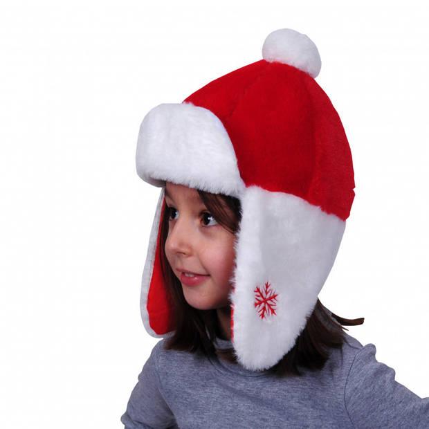 Kerstmutsen pluche met oorflappen voor kinderen - Wintermutsen kerst thema - voor jongens en meisjes