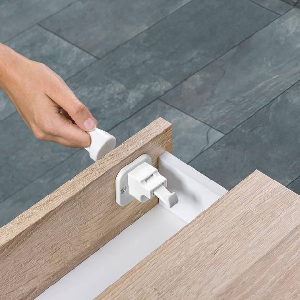 Reer zelfklevend magneetslot met montagehulp (4 stuks + sleutel)