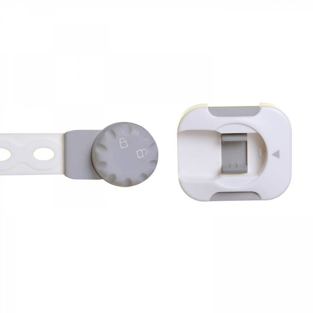 Twist 'N Lock multifunctioneel slot 1 stuks wit/grijs