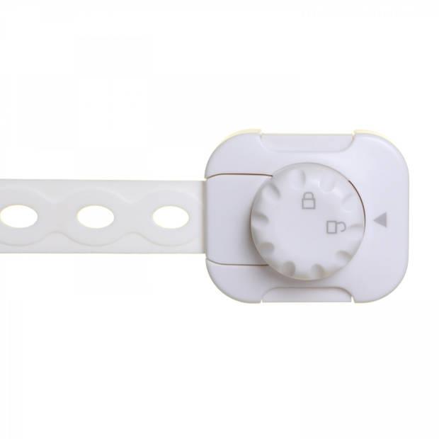 Twist 'N Lock multifunctioneel slot 2 stuks wit