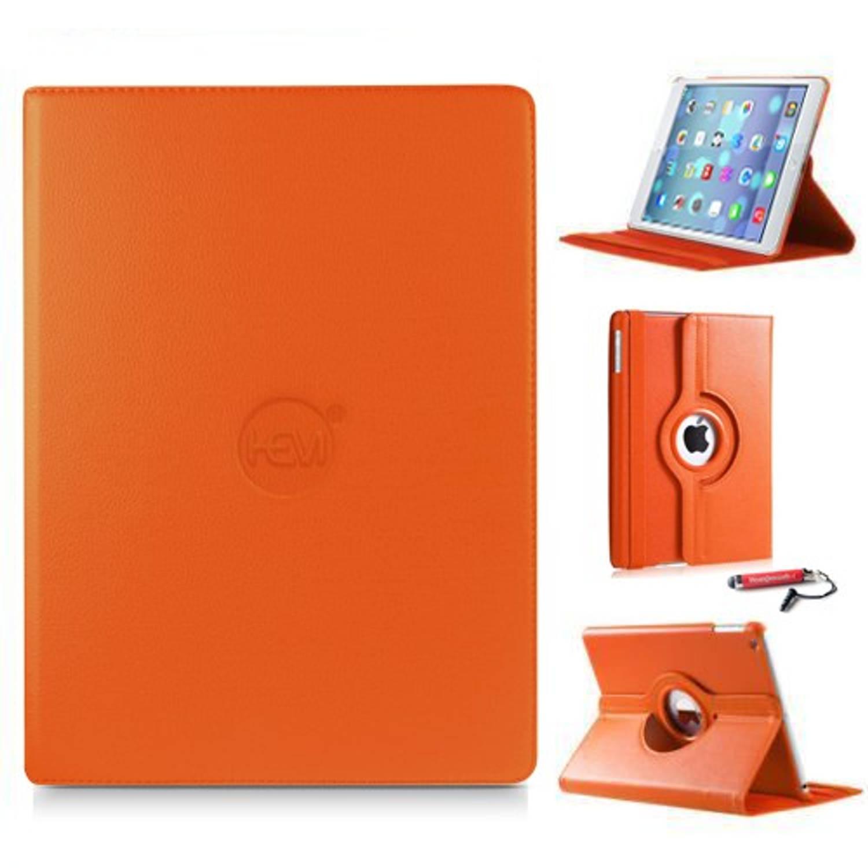 Ipad Hoes Air 1 Hem Cover Oranje Met Uitschuifbare Hoesjesweb Stylus