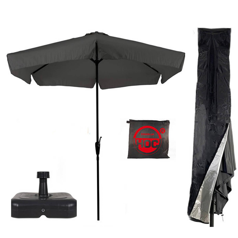 Parasol Parasolvoet Parasolhoes Grijs Antraciet Vulbare Parasolvoet Cuhoc Parasolhoes Super Combideal