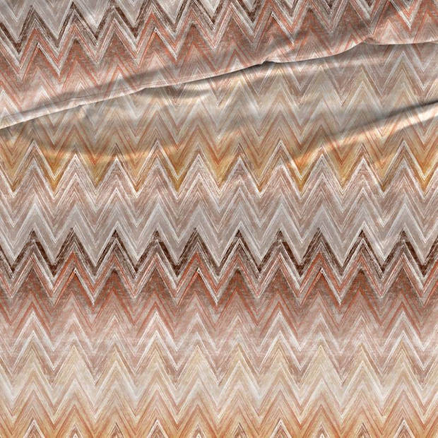 Romanette Kiruna flanel dekbedovertrek - 2-persoons (200x200/220 cm + 2 slopen) - Flanel - Bruin/Terra