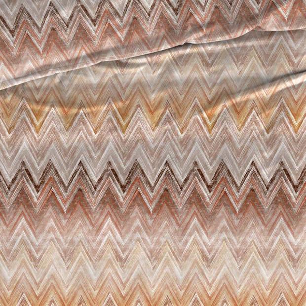 Romanette Kiruna flanel dekbedovertrek - Lits-jumeaux (240x200/220 cm + 2 slopen) - Flanel - Bruin/Terra