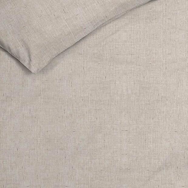 Heckett & Lane Heckett & Lane Franela flanel dekbedovertrek - 2-persoons (200x200/220 cm + 2 slopen) - Flanel - Zand