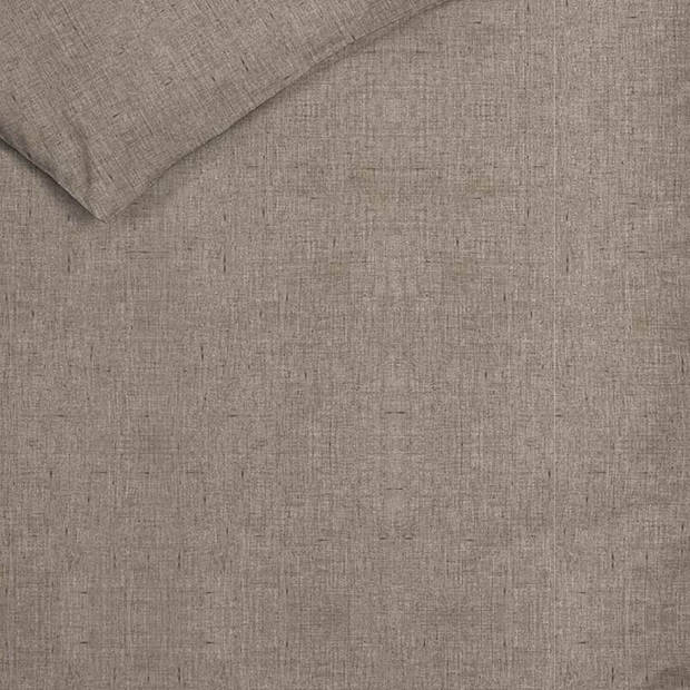 Heckett & Lane Heckett & Lane Franela flanel dekbedovertrek - 1-persoons (140x200/220 cm + 1 sloop) - Flanel - Taupe