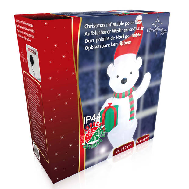 Christmas Gifts - Opblaasbare Kerstijsbeer - 240 cm - Binnen & Buiten - Ingebouwde Adapter