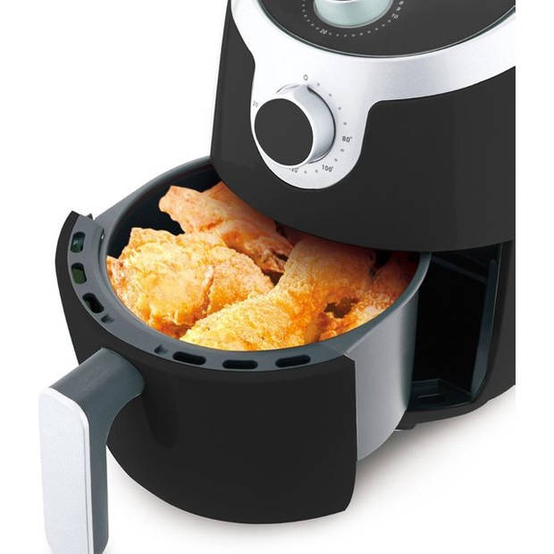 Molino Health Fryer Mini - Airfryer - Hetelucht Friteuse - Zwart