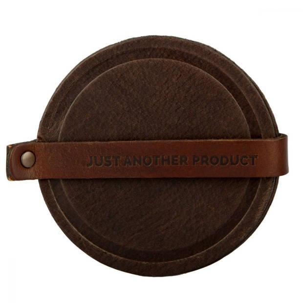 JustAnotherProduct - Onderzetter van leer - Gedetailleerd - Set 6 stuks - Bruin