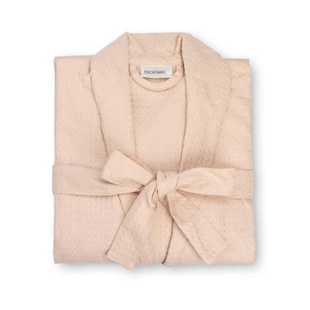 Badjas katoen - roze - L/XL