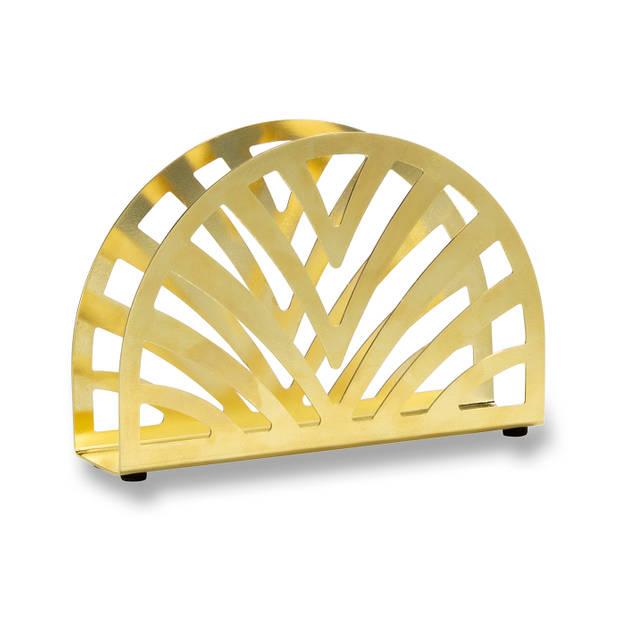Blokker servethouder - goud metaal