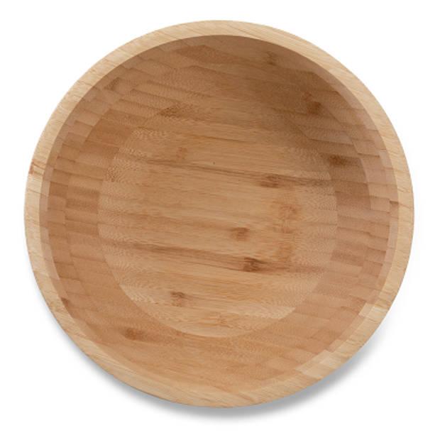 Blokker schaal bamboe - ø 20 cm
