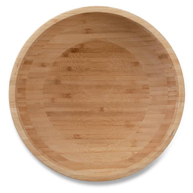 Blokker schaal bamboe - ø 25 cm