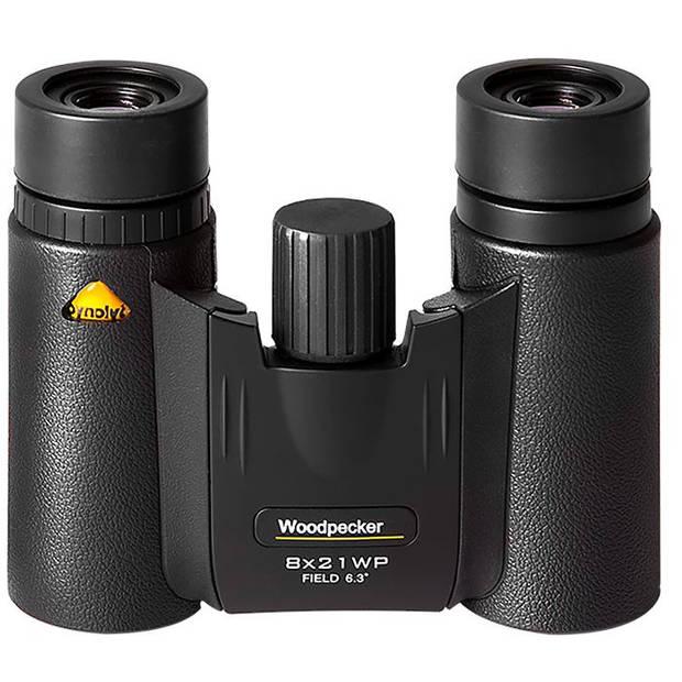 Bynolyt verrekijker 8 x 21 Woodpecker 9 x 4,5 cm staal zwart