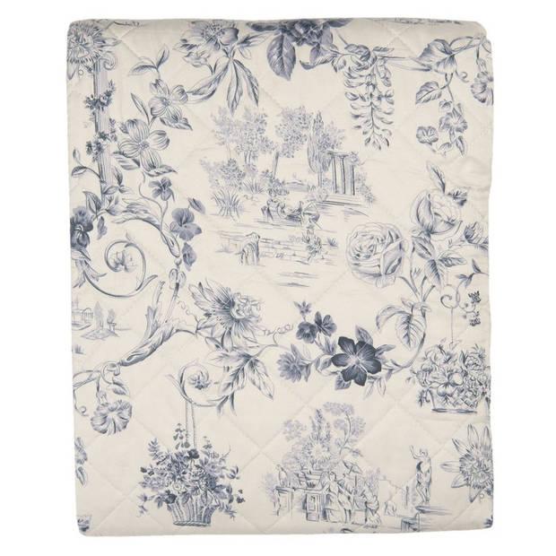 Clayre & Eef bedsprei - 240*260 cm - meerkleurig - polyester - bloemen - Q191.061