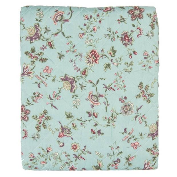Clayre & Eef bedsprei - 240*260 cm - meerkleurig - polyester - bloemen - Q187.061