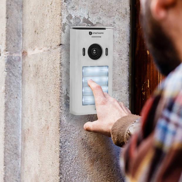DIC-22142 Video intercom systeem voor 4 appartementen