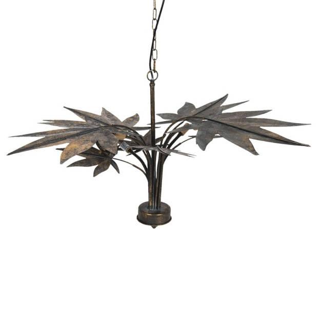 Hanglamp - 86*86*49 cm g9/max 4*40w - koperkleurig - metaal - Clayre & Eef - 5LMP328