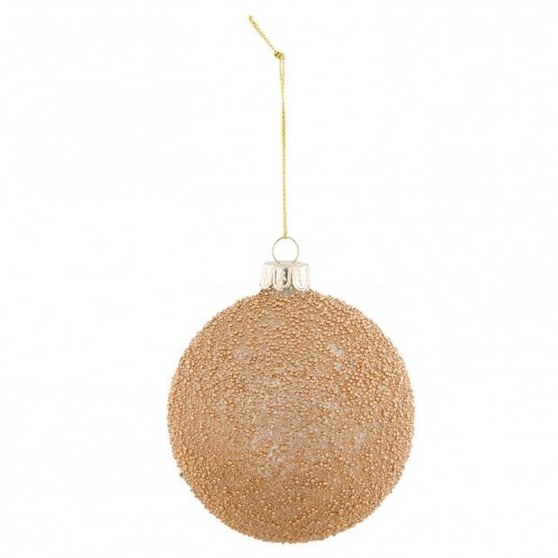 Clayre & Eef kerstbal - Ø 8*9 cm - bruin - glas - rond - Clayre & Eef - 6GL2307B