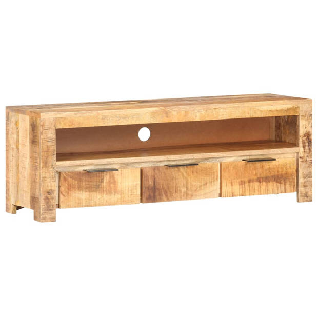 vidaXL Tv-meubel 119x30x41 cm ruw mangohout