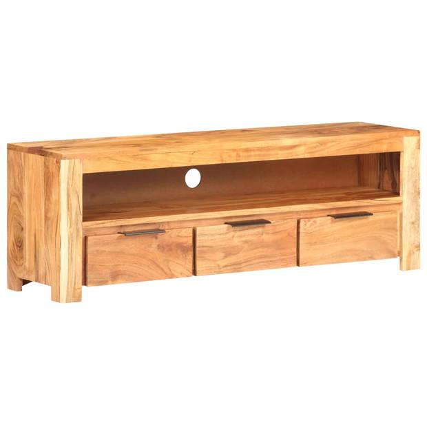 vidaXL Tv-meubel 119x30x41 cm massief acaciahout