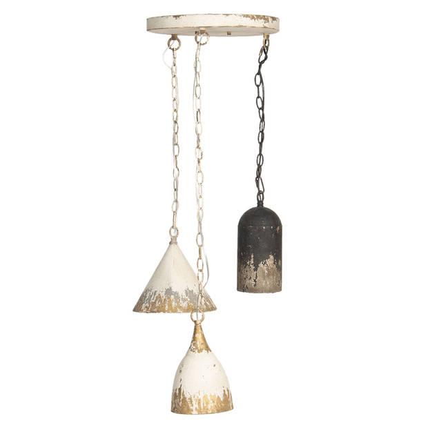 Clayre & Eef hanglamp Ø 70x95 cm - wit - ijzer - 5LMP320